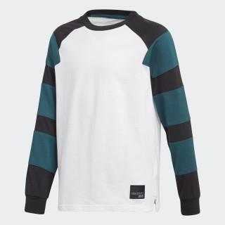 Camiseta EQT Henley WHITE/BLACK/MYSTERY GREEN S17 CF8536
