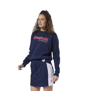 Sweat-shirt en molleton avec logo Classics Collegiate Navy DH1325