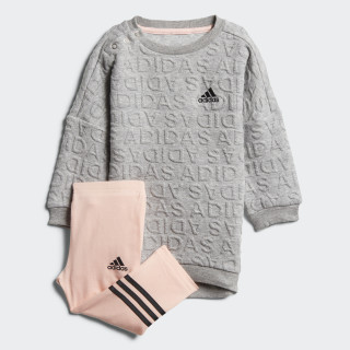 Conjunto I Sweat VESTIDO MEDIUM GREY HEATHER/BLACK HAZE CORAL S17/BLACK DJ1565
