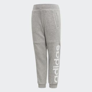 Pantaloni da allenamento Linear Medium Grey Heather / White CF1251