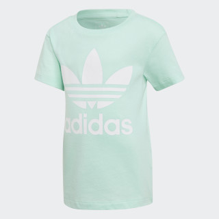 T-shirt Trefoil Clear Mint / White D98853