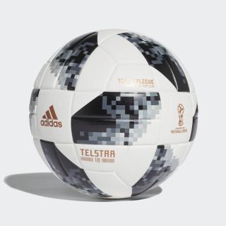 Bola FIFA World Cup Top Replique + Caixa 2018 WHITE/BLACK/SILVER MET. CD8506