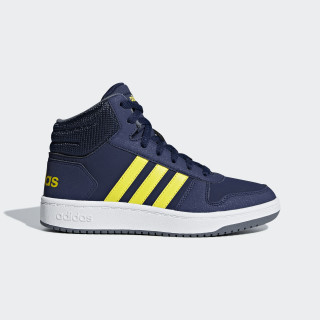 Hoops 2.0 Mid Shoes Dark Blue / Shock Yellow / Ftwr White B75745