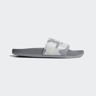 Adilette Cloudfoam Plus Graphic Slides Grey / Cloud White / Grey B41748