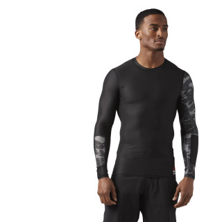 Reebok CrossFit Compression Long Sleeve T-Shirt Black CE2627