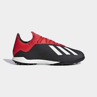 X Tango 18.3 Turf Shoes Core Black / Off White / Active Red BB9398
