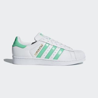 Sapatos Superstar Ftwr White / Hi-Res Green / Gold Met. B41995