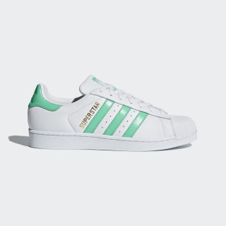 Superstar Schuh Ftwr White / Hi-Res Green / Gold Met. B41995