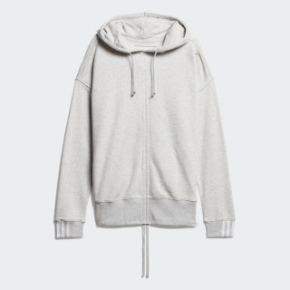 Sudadera con capucha Ruched Light Grey Heather DZ0097