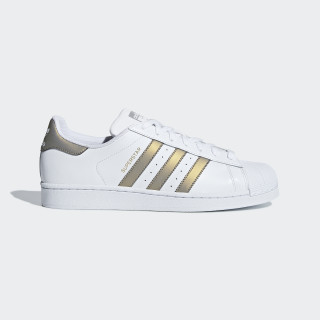 Chaussure Superstar Ftwr White / Grey Four / Gold Met. D98001