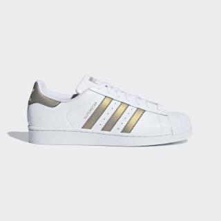 Superstar Schoenen Ftwr White / Grey Four / Gold Met. D98001