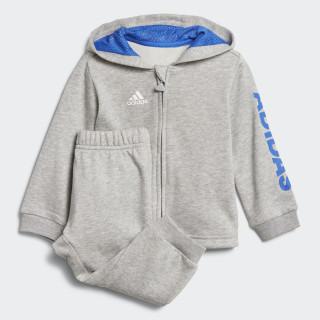 Chándal con capucha Linear Medium Grey Heather / Blue / White DJ1582