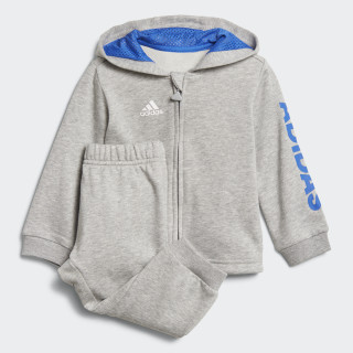 Linear Hooded Jogger Medium Grey Heather / Blue / White DJ1582