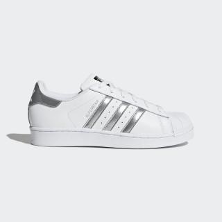 Zapatilla Superstar Footwear White/Silver Metallic/Core Black AQ3091