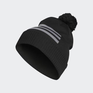 3-Stripes Pompon Beanie Black DN2216