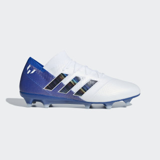 Nemeziz Messi 18.1 Firm Ground Voetbalschoenen Ftwr White / Core Black / Football Blue DB2088