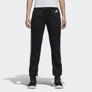 Essentials 3 Stripes Closed Hem Slim Pants BLACK/WHITE S97113