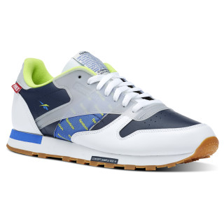 Classic Leather Altered White / Navy / Lime DV5241