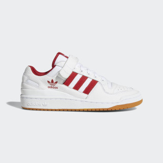 Forum Low Top Shoes Cloud White / Power Red / Gum B37769