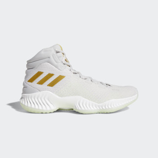 Pro Bounce 2018 Shoes Grey Two / Gold Met. / Aero Green B41859