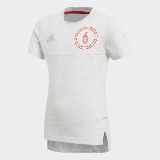 Camiseta Cotton WHITE MELANGE/VIVID RED S13/REFLECTIVE SILVER CF6699