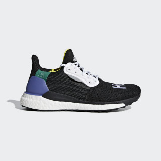 Pharrell Williams x adidas Solar Hu Glide ST Schoenen Core Black / Ftwr White / Bright Cyan CG6736