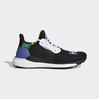 Pharrell Williams x adidas Solar Hu Glide ST sko Core Black / Ftwr White / Bright Cyan CG6736
