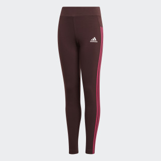 Essentials 3-Stripes Tights Night Red / Real Magenta / White DJ1305