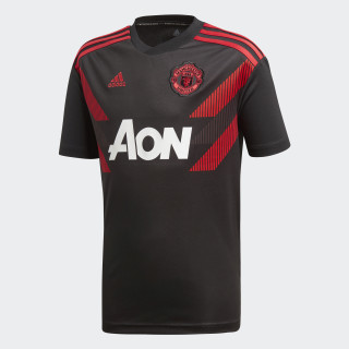 Camiseta calentamiento primera equipación Manchester United Black / Real Red CW5825