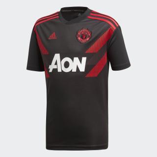 Manchester United Home opvarmningstrøje Black / Real Red CW5825