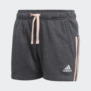 Essentials 3-Stripes Mid Shorts Dark Grey Heather / Haze Coral / White DJ1301