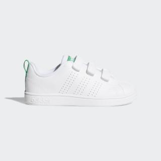 VS Advantage Clean Shoes White/White/Green AW4880
