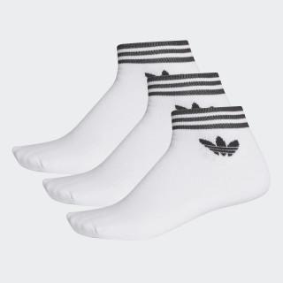 Trefoil Ankle Socks 3 Pairs White AZ6288