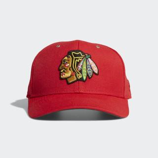 Blackhawks Adjustable Leather Strap Hat Multi CY2647