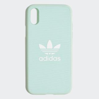 Fabric Snap iPhone X Schutzhülle Clear Mint / White CK6182