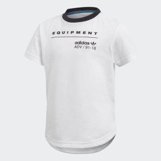 Camiseta Longa EQT WHITE/BLACK CD8424