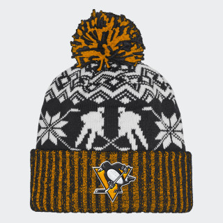 Penguins Ugly Sweater Cuffed Pom Beanie Multi CY4063