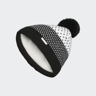 Fashion Lined Pompom Beanie Black CZ0227