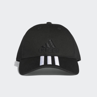Six-Panel Classic 3-Stripes Cap Black/White S98156