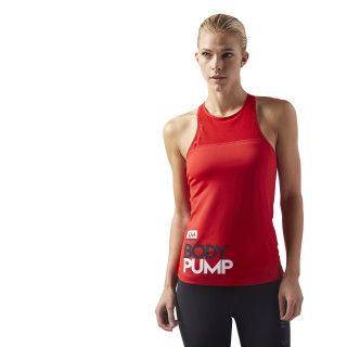 LES MILLS® BODYPUMP  Tank With Padded Built In Sports Bra Primal Red CD6220