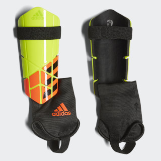 X Club Shin Guards Solar Yellow / Solar Red / Black CW9723