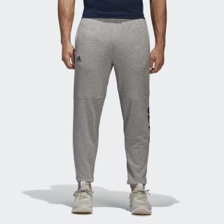 Pantalon à logo linéaire Essentials Medium Grey Heather/Collegiate Navy BQ9092