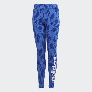 Linear Printed Tights Hi-Res Blue / Mystery Ink / White DJ1308