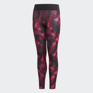 Allover Print Legging Noble Maroon / Shock Pink / Black DJ1083