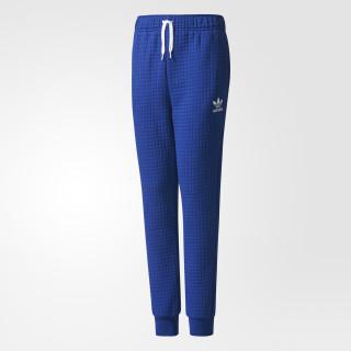 Pantaloni Trefoil Fleece Tiro Blue/Mystery Ink/White BQ3954