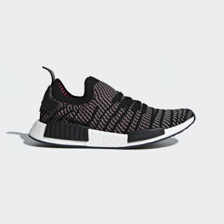 NMD_R1 STLT Primeknit Shoes Core Black / Grey / Solar Pink CQ2386