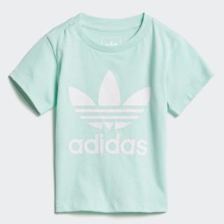 T-shirt Trefoil Clear Mint / White D96101