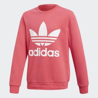 Trefoil Crew Sweatshirt Real Pink / White CF8570