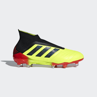 Calzado de Fútbol Predator 18+ Terreno Firme SOLAR YELLOW/CORE BLACK/SOLAR RED DB2010