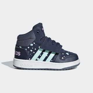 Hoops 2.0 Mid Shoes Trace Blue / Clear Mint / Clear Lilac B75953